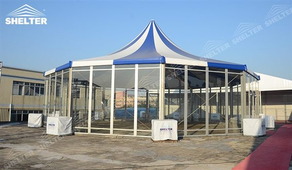 SHELTER Polygonal Tent - Event Marquee - 12 sided polygon Structures - decagon tent -1