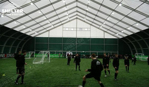 SHELTER Sports Structures - Football Court Canopy - Indoor Football Feild -1