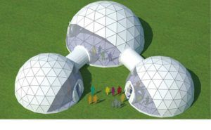 Shelter Dome Tents geodome tent for sale 5 - 100m - sphercial structures with walkway - metal event dome -1