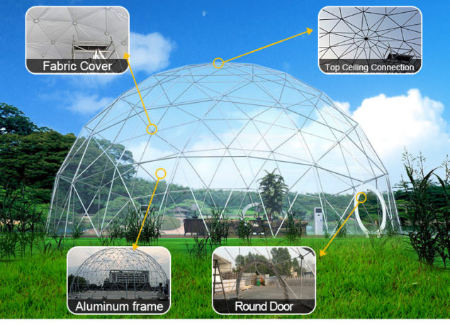 Shelter Event Geo dome Tent - geodesic structures - sphercial tents for sale dia. 3m to 100m-2