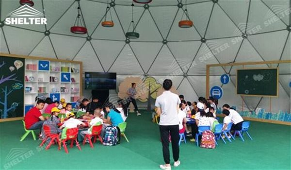 geo dome tent geodome tent geodesic dome tent for kids festival Shelter tent (4)