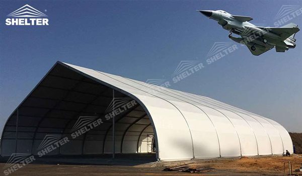 helicopter hangar tent - aircraft hangar structures - private jet hangar structure - Shelter airplane hangar tents for sale (215)