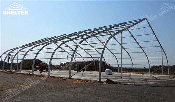 helicopter hangar tent - aircraft hangar structures - private jet hangar structure - Shelter airplane hangar tents for sale (3)