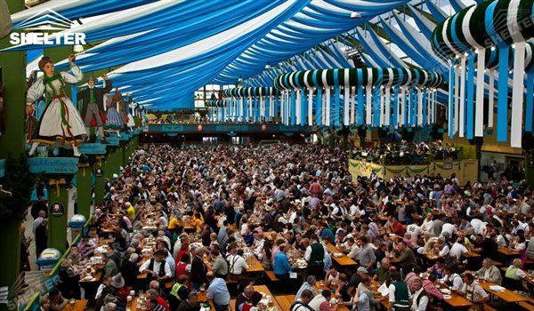 large beer tent for beer festival german beer fest Shelter Event party tent with lining (4)