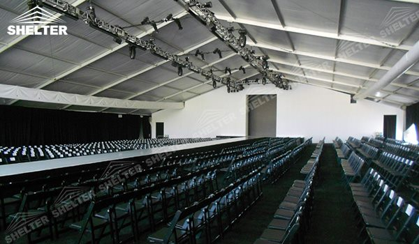 SHELTER Stage Tent Event Tent - Commercial Marquees - Fashion Week Reception Hall - Temporary Lounge Tent -91