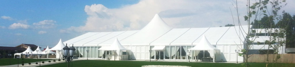 mixed party tent with high peak - wedding marquee for sale
