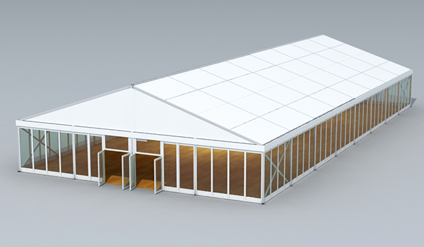 Clear Span Tent 2D Rendering