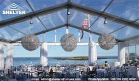 Clear Top Marquee Transparent Tents Shelter Structures