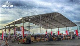 shelter-curved-roof-tent-festival-marquee-clear-span- & Clear Span Tent - Tensile Fabric Structures - Shetler Event Tents
