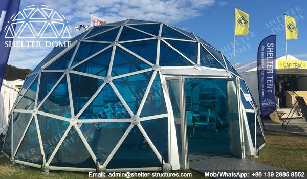SHELTER Exhibition Dome Sale in UK - Dia. 8m 3v Geodome with PC Panel -4