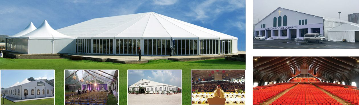 Aluminum Metal Tent for Church u2013 Gospel Tents u2013 Prayer Hall & Large Church Tent - Revival Tent - Gospel Tent | Shelter Structures
