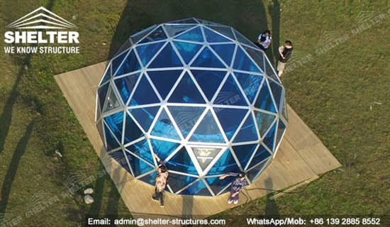 Dia 6m Geodesic Dome Greenhouse Glass Domes Shelter