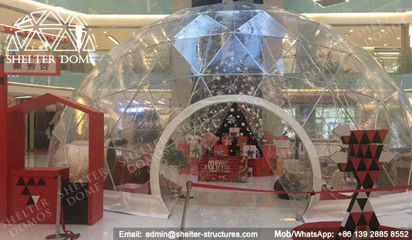 SHELTER Dia. 10m Transparent Dome - Sphere Display Tent -1