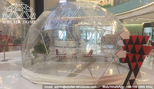 SHELTER Dia. 10m Transparent Dome - Sphere Display Tent -2