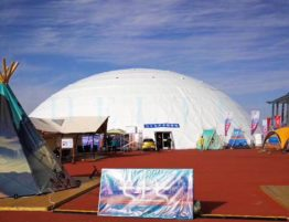 Shelter Large Reception Dome - Geodome Tent as Lounge Hall, Conference Tent, Exhibition Hall - Fabric Dome for Sale China