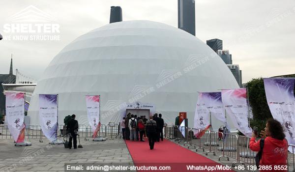 Dia  30m Cinema Dome in International Light Festival - Shelter