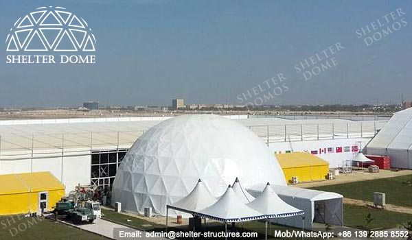 SHELTER Spherical Dome Tent for Exhibition Hall - Dia. 25m Geodome Tent with PVC Membrane Sale in Middle East -1