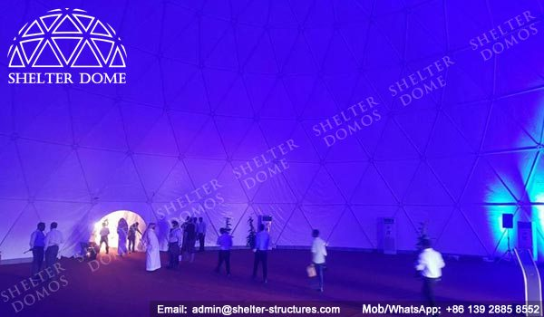 SHELTER Spherical Dome Tent for Exhibition Hall - Dia. 25m Geodome Tent with PVC Membrane Sale in Middle East -3