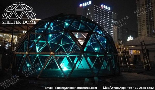 SHELTER Spherical Tent with PC Panel - Dia. 6m _ 20ft Glass Geodome for Sale - Exhibition Dome House -10