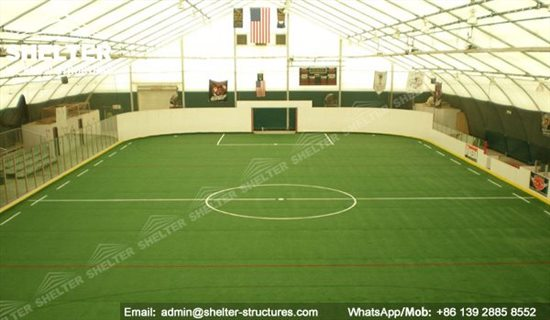 Indoor Football Field Covered Basketball Court Shelter Structures