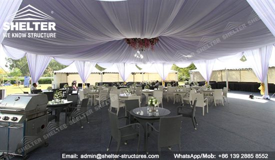 Octagon Tent Canopy Decorated Wedding Marquee Shelter
