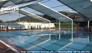 Basic Information & Swimming Pool Shades Canopy- Pool Enclosure - Shelter Structures