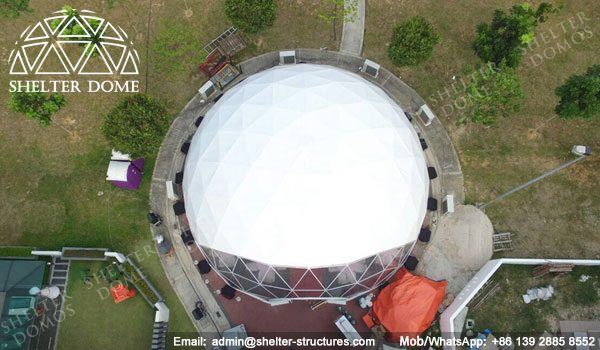 Shelter Dia. 15m Sphere Dome Tent - Dome Wedding Venue - Geodesic Tents for Catering -10