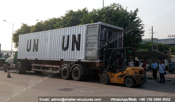 Relief Shelter loading for UN