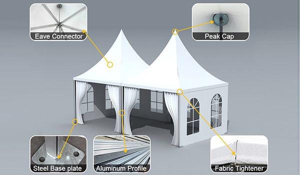 SHELTER Arabian Hajj Tent - High Peak Raj Tents - Luxury Ramadan Marquee - Gazebo for Hajj -1