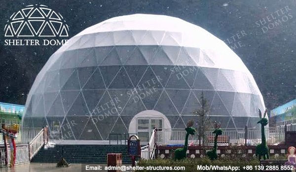 Shelter Dome - Winter Dome for Skating - Dia. 27m Geodesic Dome Tent -4