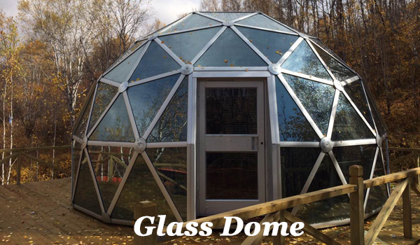 SHELTER Dia. 6m Glass Dome - Living Dome - Geodesic Eco Dome