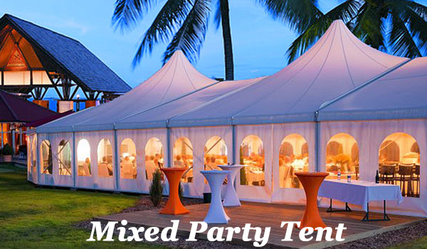 SHELTER Mixed Party Tent - Luxury Marquee Marquee - Outdoor Wedding Venue