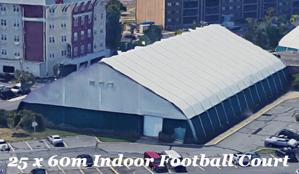 SHELTER Tensile Fabric Structures - Indoor Football Field - Soccer Court Installation