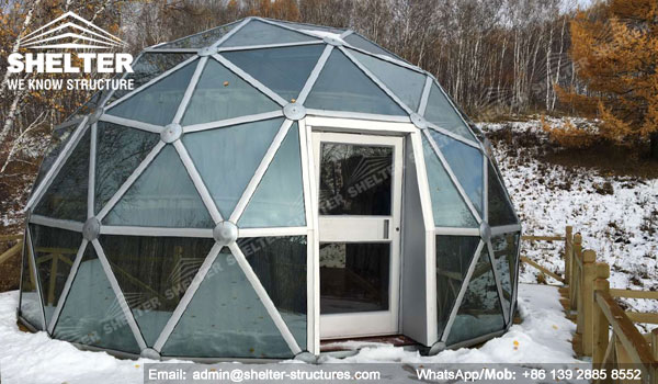 6m Glass dome house Geo Domes 8m geodesic dome Shelter Dome (18)
