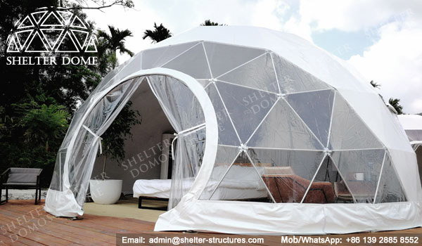 SHELTER Dome - Geo Domes for Sale - Eco Living Dome House - Garden Igloo - Spherical Glamping Tent -4