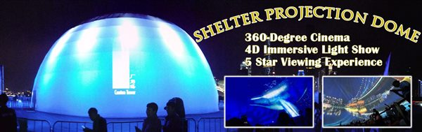 SHELTER Projection Dome - Geodesic Dome for 4D Light Show -1_Jc