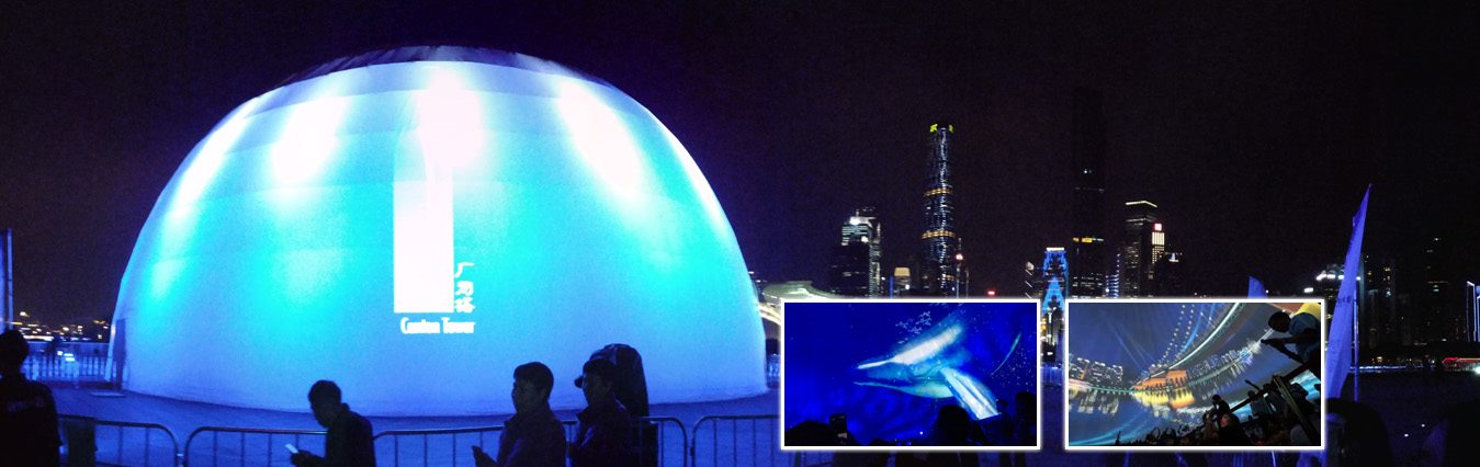 SHELTER Projection Dome - Geodesic Dome for 4D Light Show -4