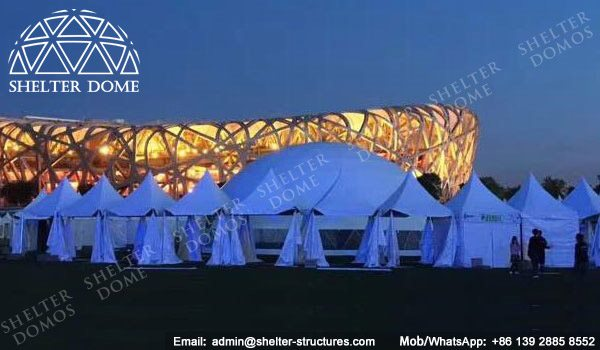 SHELTER Sphere Structure - Dia. 20m Event Dome with Panorama View Window -1