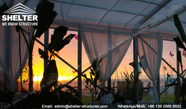 Belgium A Moment with the Butterfly - Exhibition Tent for Butterfly Show - Arch Roof Tent with Clear Sidewall - Show Tent -2