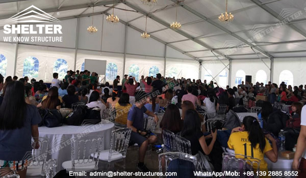 SHELTER Multi-peak Tent for Wedding - 25 x 50m Wedding Marquee - Mixed Party Tent for Sale in Philippines -1