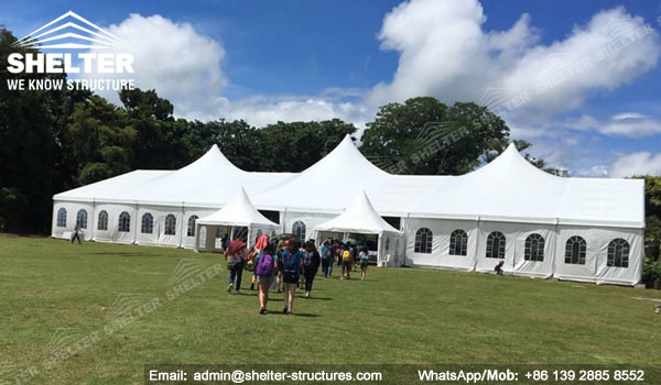 SHELTER Multi-peak Tent for Wedding - 25 x 50m Wedding Marquee - Mixed Party Tent for Sale in Philippines -3