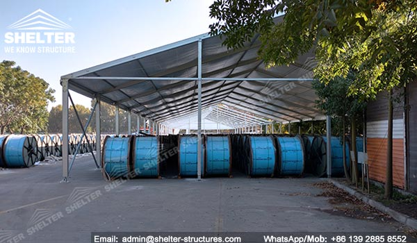 High Quality SHELTER Temporary Warehouse Structures   Portable Outdoor Storage Tent For  Cable Computer In Chile  6