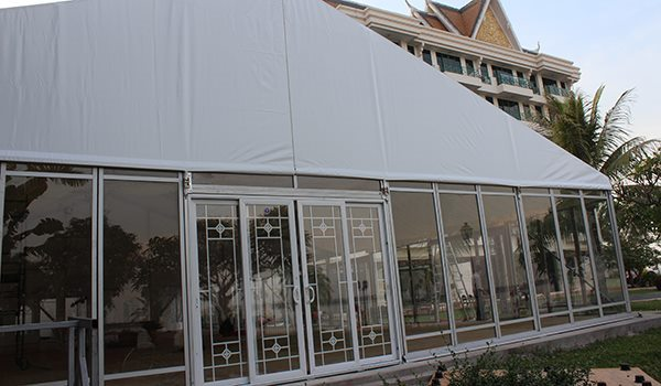 Shelter Tent Structures - Glass Sliding Door