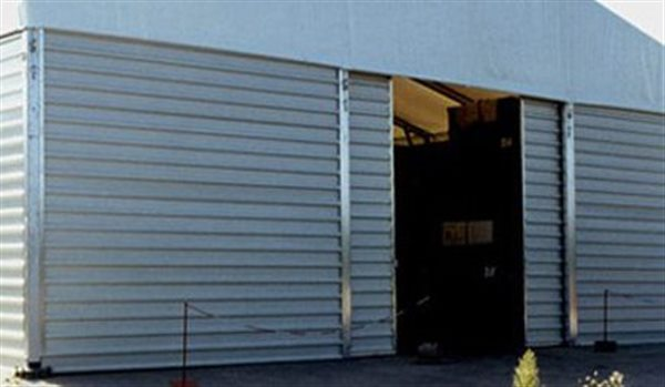 Shelter Tent Structures - Steel Sliding Door