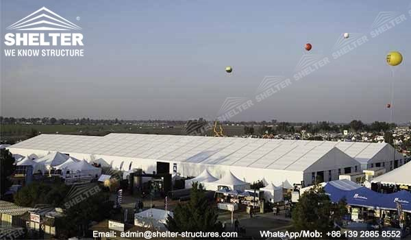 SHELTER 40 x 100 Tent for Trade Show, Exhibition, Fair - Large Agricultural Expo in US -1