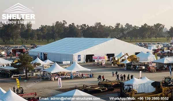SHELTER 40 x 100 Tent for Trade Show, Exhibition, Fair - Large Agricultural Expo in US -2