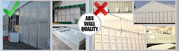 10 Aluminum Clear Span Tent Quality Contrast - High-quality ABS Solid Wall
