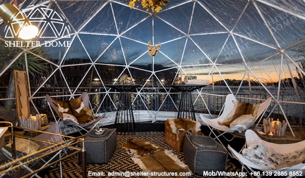 4m, 5m Spherical Structures - Small Geodesic Dome for Sale - Pop Up Dome Tent - Igloo Domes Bars with Transparent Roof -2