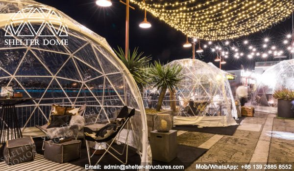 4m, 5m Spherical Structures - Small Geodesic Dome for Sale - Pop Up Dome Tent - Igloo Domes Bars with Transparent Roof -3
