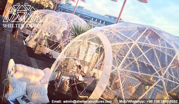 4m, 5m Spherical Structures - Small Geodesic Dome for Sale - Pop Up Dome Tent - Igloo Domes Bars with Transparent Roof -4